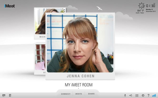 iMeet's Spotlight Feature demonstrated, with the person's face on spotlight.