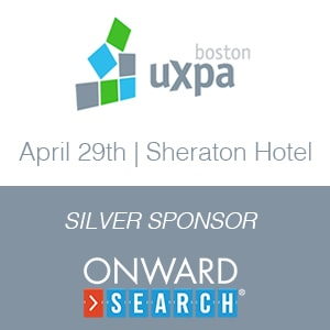 Onward Search Excited to Sponsor UXPA Boston 2016