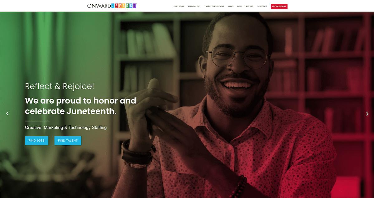 Juneteenth Screenshot of Homepage
