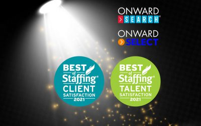 Onward Search wins ClearlyRated 2021 Best of Staffing Awards